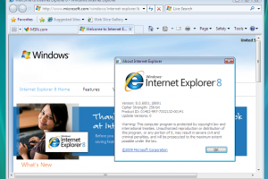 Internet Explorer 8 for Windows Vista 64-bit and Windows Server 2008 64-bit screenshot