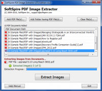 SoftSpire PDF Image Extractor LITE screenshot