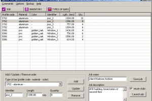 Bar Cut Optimizer and Manager screenshot