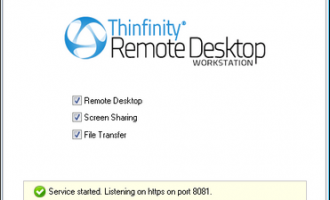 ThinVNC HTML5 Screen Sharing and Remote Desktop screenshot