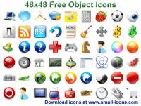 48x48 Free Object Icons screenshot