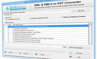 EML TO Outlook PST Converter Software screenshot