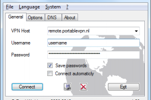 PortableVPN screenshot