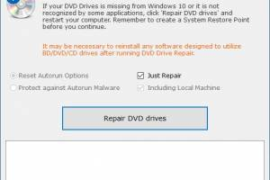 DVD Drive Repair screenshot