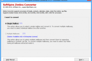 Zimbra Mail to Office 365 Migration screenshot