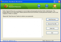 Firefox Password Recovery screenshot