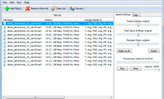 Audio Speed Changer Pro Portable screenshot
