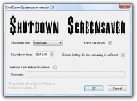 Shutdown Screensaver screenshot
