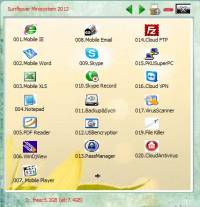 Sunflower Mobilesystem with Cloud screenshot