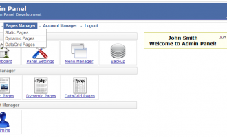 PHP AdminPanel Website Back End Script screenshot