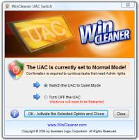 WinCleaner UAC Switch screenshot