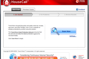Trend Micro HouseCall screenshot