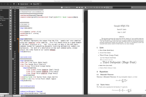 Texmaker for Mac OS X screenshot