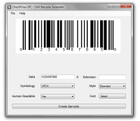CheckPrixa UPC Generator screenshot