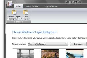 Windows 7 or Vista Login Screen Changer screenshot