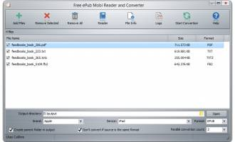 Free ePub Mobi Reader and Converter screenshot