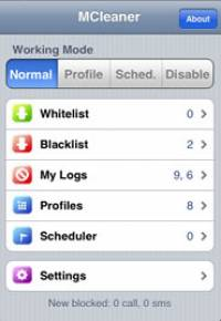 MCleaner(sms/call reject) for iPhone screenshot