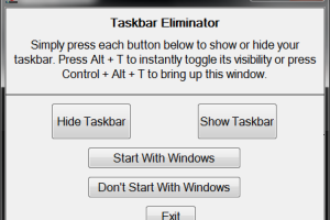 Taskbar Eliminator screenshot