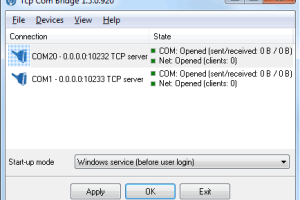 TCP COM Bridge screenshot
