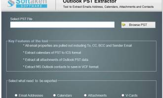 Extract Email Addresses From PST screenshot