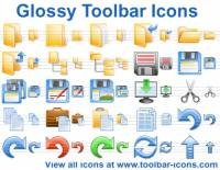 Glossy Toolbar Icons screenshot