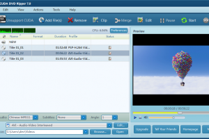 Free CUDA DVD Ripper screenshot