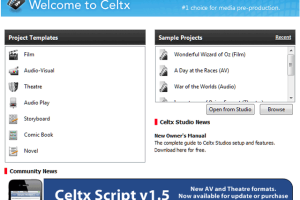 Portable Celtx screenshot