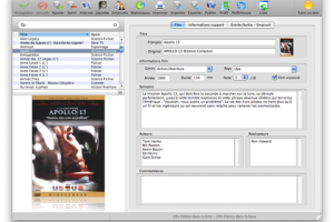 Filmotech for Mac OS X screenshot