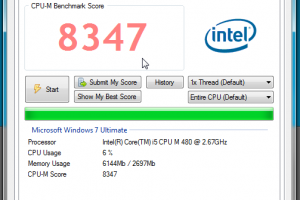 CPU-M Benchmark screenshot