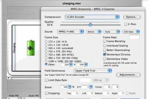 MPEG Streamclip for Mac OS X screenshot