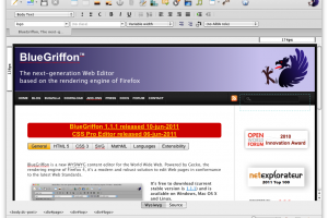 BlueGriffon for Linux screenshot