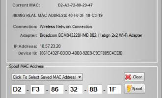 Hide My MAC Address screenshot