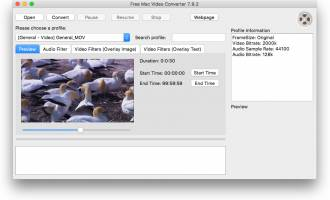 Free Mac Video Converter screenshot