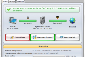 CyberGhost VPN Basic screenshot