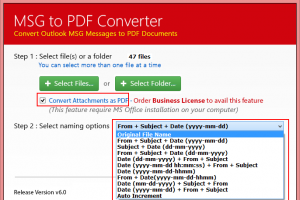Convert Outlook Item (.msg) to PDF screenshot