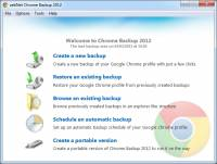 zebNet Chrome Backup 2012 screenshot