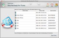 Coolmuster Data Recovery for iTunes Mac screenshot