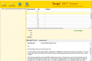 MHT Viewer screenshot