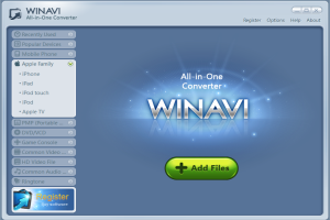 WinAVI All In One Converter screenshot