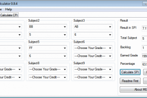 GTU SPI Calculator x64 screenshot