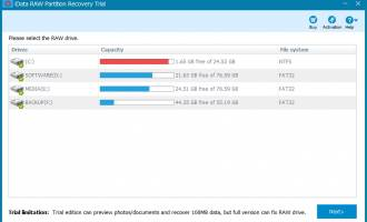 iData RAW Partition Recovery screenshot