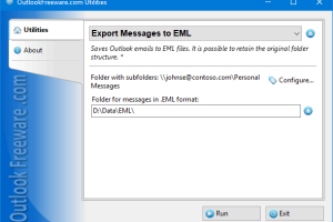 Export Messages to EML Files for Outlook screenshot