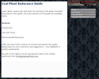 Coal Plant Endurance Guide screenshot