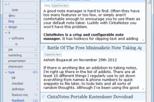 CintaNotes Free Personal Notes Manager screenshot