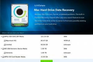 IUWEshare Mac Hard Drive Data Recovery screenshot
