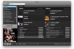 Spotify for Mac OS X screenshot