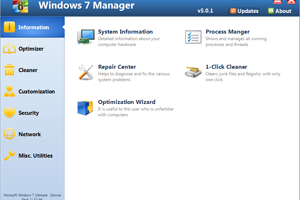 Windows 7 Manager (x32bit) screenshot