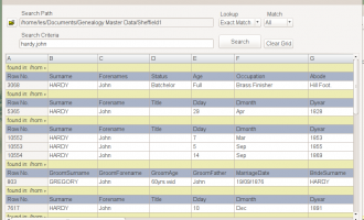 Csv File Search screenshot