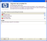 HP Print Diagnostic Utility screenshot