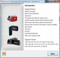 BYclouder Toshiba Camcorder Data Recovery screenshot